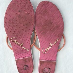 Coach Shoes - Coach signature colorful jelly flip flop size 9